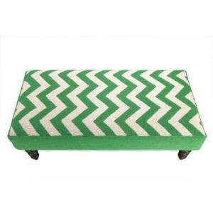 Zip Zag Hook Bench Green