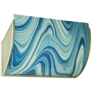 """20.25"""" W Metro Fusion Ocean Waves Glass Wall Sconce"""
