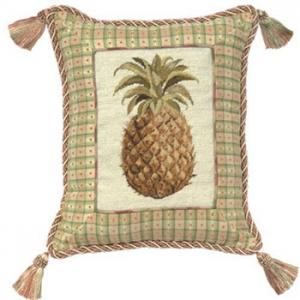 Pineapple Needlepoint Pillow