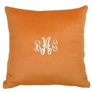 Cashmere Orange Pillow Personalized