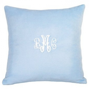 Cashmere Blue Pillow Personalized