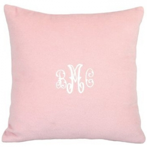 Cashmere Pink Pillow Personalized