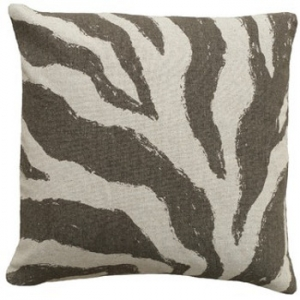 Zebra Grey Linen Pillow