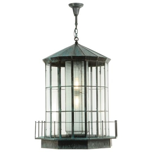 "28.5"" W Lighthouse Lantern Pendant"