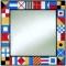 Nautical Flag Tiled Mirror