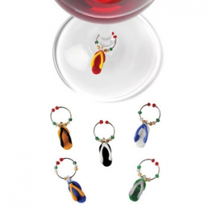 Flip Flop Wine Glass Charms