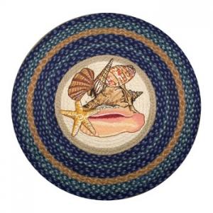 Sea Shells Round Patch Rug