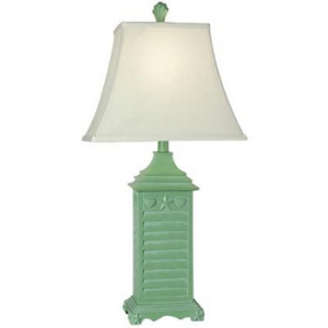 beach house green table lamp. Black Bedroom Furniture Sets. Home Design Ideas