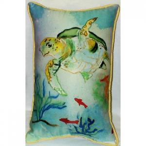 Sea Turtle Indoor Outdoor Pillow