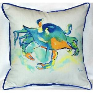 Orange Crab Indoor Outdoor Pillow