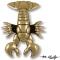 Maine Lobster Door Knocker-Bronze