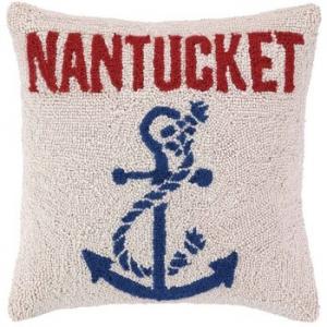 Anchored At Nantucket Hook Pillow