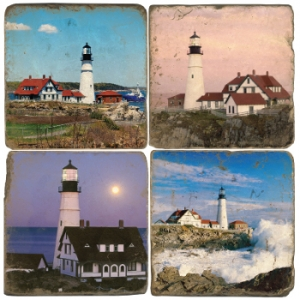 Marble Coaster Set Of Four Lighthouses