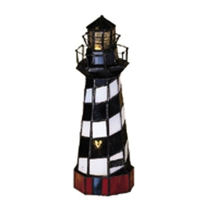 "10"" H The Lighthouse On Cape Hatteras Accent Lamp"