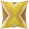 Building Yellow Embroidered Pillow
