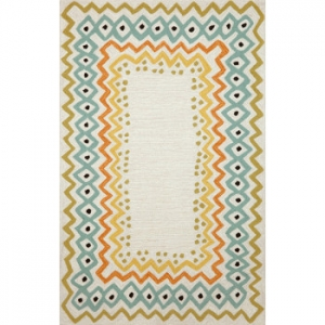 Ethnic Pastel Rug Indoor Outdoor Rug