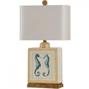 Blue Seahorses Table Lamp