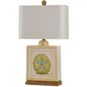 Sand Dollar Ceramic Table Lamp