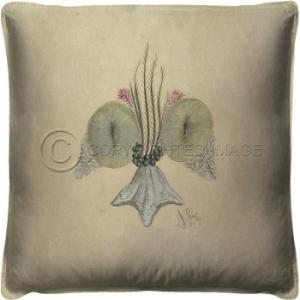 Fleur De Lis Shell 3 Pillow