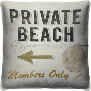 Private Beach  Pillow