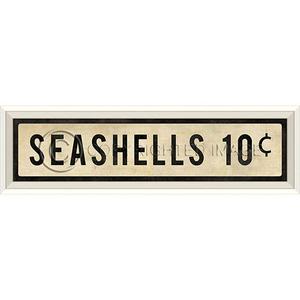 Seashells 10 Cents Art Sign