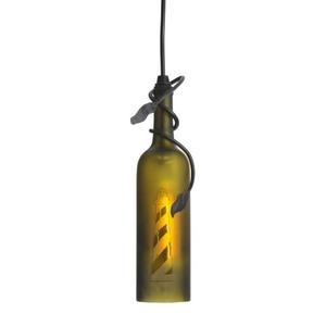 "3"" W Tuscan Vineyard Lighthouse Wine Bottle Mini Pendant"