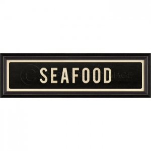 Seafood Framed Sign