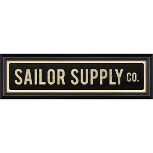 Sailor Supply Co Framed Sign Art