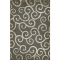 Dark Grey Swirl Pattern Vinyl Floor Cloth
