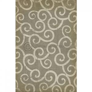 Light Grey Swirl Pattern Vinyl Floor Cloth