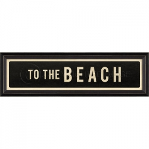 To The Beach Framed Art Sign