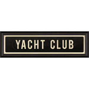 Yacht Club Framed Art Sign