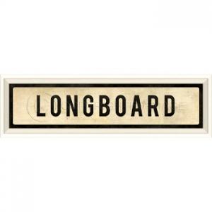 Longboard Framed Art Sign