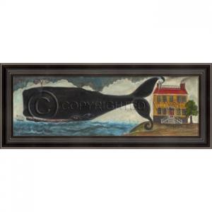 Main Nantucket II Framed Whale Art