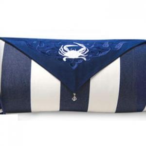Crab Bolster Indoor Outdoor Pillow
