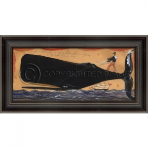 Unexpected Ride Framed Whale Art
