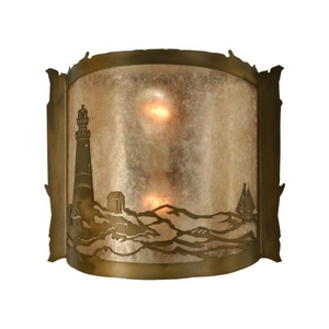 "15"" W Lighthouse Wall Sconce"