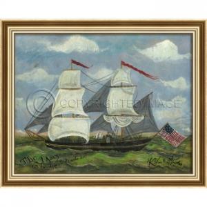 The Mary Framed Ship Art
