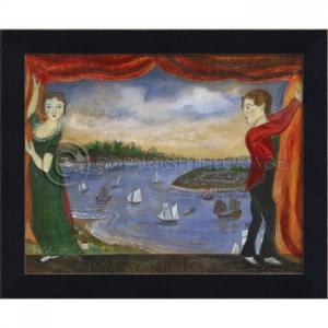 Mary And Tom Framed Ship Art