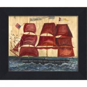 Red Sails Framed Ship Art