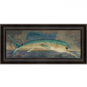 Lh Big Fish Story - Swordfish Framed Art