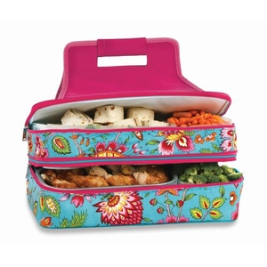 Entertainer Hot and Cold Food Carrier, Madeline Turquoise