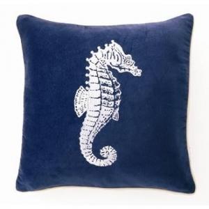 Seahorse Velvet Pillow