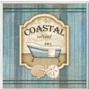 Coastal Retreat Bathroom Wall Plaque