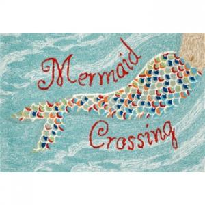 Mermaid Crossing Water Indoor Outdoor Rug