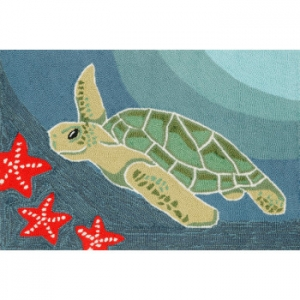 Sea Turtle Indoor Outdoor Rug