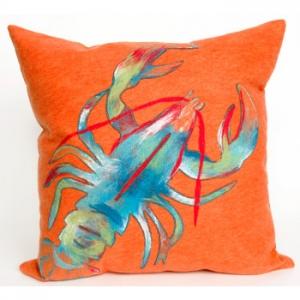 Blue Lobster Indoor Outdoor Pillow