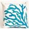 Blue Coral Indoor Outdoor Pillow