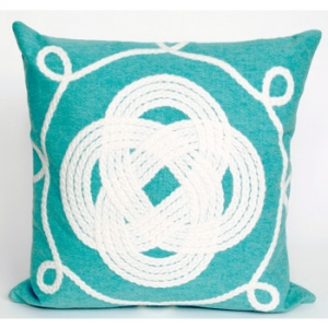 Ornamental Aqua Knot Pillow