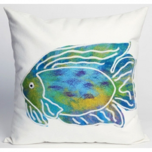 Batik Fish Indoor Outdoor Pillow
